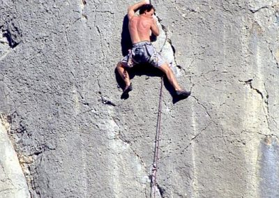 1st ascent . Stolen Blue- Mark.E7 6c. Pleasure domes