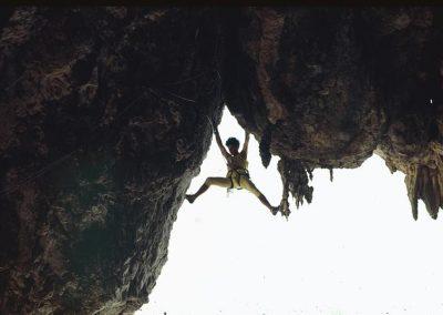 1st ascent Candalabra del Sol. 8a+ Mark climbing