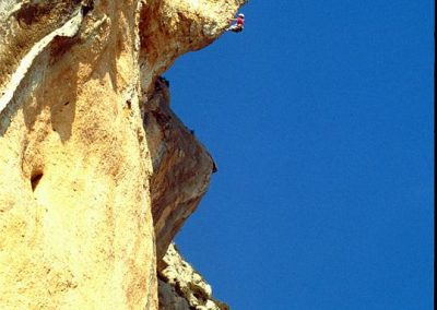1st ascent  The Sphinx. 8a+. Climbers Rowland and Mark