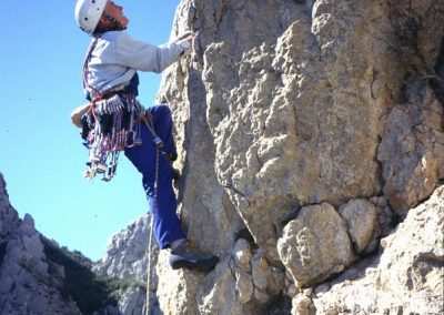 1st ascent of Cynical Pinnacle.6a.  Rowland. Aguja Pilar.
