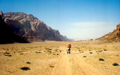 Desert storms. Wadi Rum Jordan